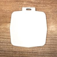 Medalis UV spaudai (baltas) / 65mm