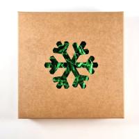 Dovanų dėžutė su išpjaustytu simboliu